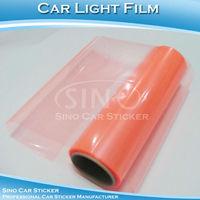 "SINO CAR STICKER 0.3x10m Free Shipping Light Pink Car Head Light Film 0.3x10M 12""x394"""