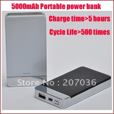 Free shipping External power bank with 5000mah,charge for iphone,Nokia,Samsung mobile phone,other digital items(China (Mainland))
