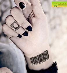 Barcode Numbers Personality Temporary tattoo Waterproof tattoo stickers body art Painting #TA124(China (Mainland))