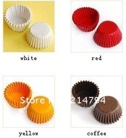 2400pcs/lot 4-color Mini Chocolate Cake Case Cute Cupcake Liners Baking Muffin Paper Cups Base 25mm Expanded 6cm Free shipping