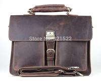 Cattle man bag fashion vintage crazy horse leather male briefcase commercial genuine leather handbag shoulder bag 1031