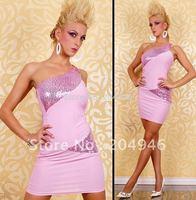 Fashion sexy sheath mini party dress one-Shoulder Scales night clubwear lady Classic slim evening dress clubwear M77