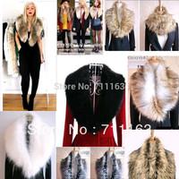 Womens Fashion Luxury Trendy Faux fake fur shrug Cool Scraf Wrap collar portable Black White Grey Brown