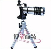 DHL/EMS 10 pcs/lot Free Shipping+10X Zoom Lens for iPhone 4/4S/5/5s and mobile phone  ,With accessories.