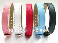 10 pcs 10mm  Genuine Leather Wristband Bracelet Fit DIY Charms