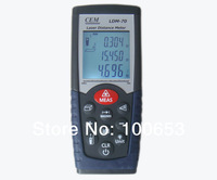 CEM LDM-70 laser distance meter  measure 0.05-70m(0.15ft to 230ft) rangefinder with free shipping!