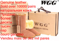 New 2013 WGG Brand Flats Women Genuine Leather Shoes High Wool Warm Winter Boots Snow Boots Sapatos SIZE 5-13