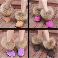Осень женщины ботинки водонепроницаемые сапоги дамы зимой снег, леопарда печати Сакура марка обуви для женщин падение судоходство