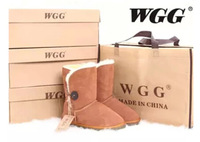 5803 WGG One Botton Snow Boots Shoes Woman,Brands Gunine Leather Winter Boots Female Big Size 11