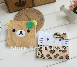 Free Shipping Kawaii Hello Kitty&Rilakkuma High Quality Plush Sanitary Bag/ Napkin Bag Novelty Item Retail(China (Mainland))