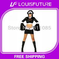 Black PVC Sexy Lingerie PVC Lingerie Club Wear PV0076