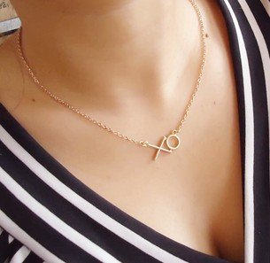 Fashion jewelry letter xo exquisite choker necklace N N698