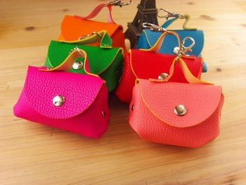Free Shipping mini style faux Leather Coins purse / changes purse / keys purse , pvc box , 5 colors magnetic buckle   hot sale