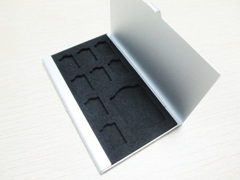 9 in 1 Portable Memory Card Cases Micro SD T-flash SDHC card holders