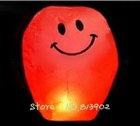 5pcs/lot China paper lantern RED  Smiling face  Wishing Lamp SKY CHINESE LANTERNS BIRTHDAY WEDDING PARTY , HX05 Free shipping