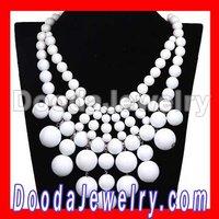 Fashion Cascade White Bauble Bib Anthropologie Necklace Wholesale JW0053-20 Free Shipping, 2pcs/lot