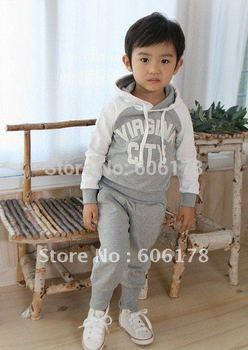 Free Shipping Baby Clothing Set Child apparel kids Wear infant Garment 2pcs sport clothing 5 set/lot