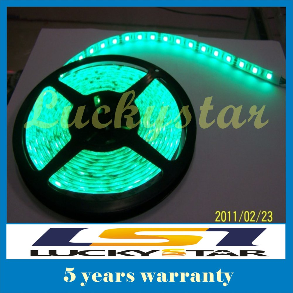 5050 60LED/M 300 5M SMD Flexible LED Strip light un-Waterproof white/yellow/blue/green/red/RGB DC 12V(China (Mainland))