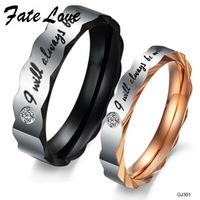 Shiny Punk New Titanium Steel ring WEDDING BAND RING Stainless Steel Couple ring Hot Fashion 301