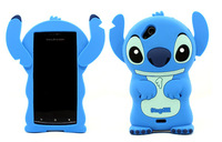 3D Stitch Cartoon Lovely High Quality Silicon e soft cover back Case for Sony Ericsson LT15i Lt18i Xperia Arc X12