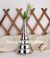 2pcs/lot tabletop place stainless steel bamboo style flower pot-flower vase-jardiniere
