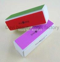 1000pcs/lot Nail file nail art buffer block polish smooth shinning  with 4 sides sponge FREE SHIPPING # BK0314-01