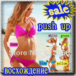 PUSH UP rose black white swimsuit suit women bikini sexy beach swim wear swimwear Tankini for women beachwear bathers 10A71040(China (Mainland))