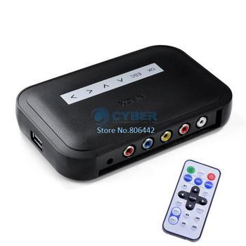 NBOX RMVB RM MP3 AVI MPEG Divx HDD HD TV USB SD Card Media Flash Player Remote Black Free Shipping 4276