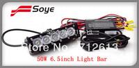 2014 NEW!!! 6.5'' adjustable 5W-50W waterproof ip67 cree led light bar off road led driving lighting bar