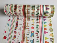1049new patterns china wholesale washi tape rice paper DIY dotfurniture  manufacturer  waterproof  40pcs/lot Free shipping
