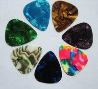 Cheap Gold Silk Printing 0.71mm Celluloid Guitar Picks Plectrums Free Shipping