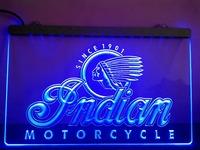 LG190- Indian Motorcycle Services Logo Neon Light Sign hang sign home decor shop crafts led sign