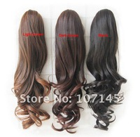 Free Shipping!Peruca Fashion Cheap Styling Tools Synthetc Hair Long Curly Cosplay Wig Hairpiece Claw Clip XBOCT Ponytail
