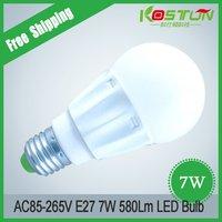 4pcs/lot AC90-260V E27 7W  Led bulb  High Quality Energy Saving Best Price led 7w Light Free Shipping