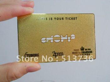 Gold/Silver Steel Metal Card