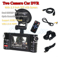 "2.7"" Full HD Car Dual Camera F20 With G-SENSOR H.264 Video SOS Emergency Button Free Shipping"