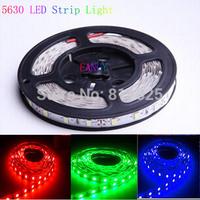 5m/lot IP65 waterproof SMD 5630 LED Strip Light led Stripe Flexible Light tape ribbon Cool white,Warmwhite  Blue,Green,Red