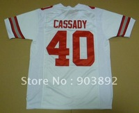 Ncaa Ohio State Buckeyes #40 Cassady white college football jerseys size mix order free shipping