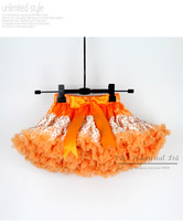 New Year Girl Ballet Tutu Dress Orange Leopard Print Kids Pettiskirt Wholesale Childern's Party Dress 5PCS/LOT TS21011-03^^EI