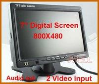 7'' TFT LCD Color Dashboard Backup Camera Car Monitor HD 800x480 Free Shipping