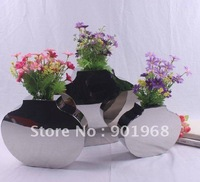 Home office hotel decor modern brief fashion stainless steel flower pot-flower vase-vase-M size