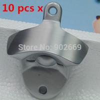 10 pieces new wall mount bottle opener  Metal Die-cast Polished Neat Wall Mounted Bottle Opener