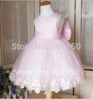 Free Shipping 2014 Child Dresses baby girls cute dress nice flower girl dress Kids Pageant Wedding Dress princess dress 2 color