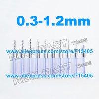 Free Shipping New Drill 0.3-1.2mm  0.30 to 1.20mm 0.30-1.20mm PCB Circuit Board Drill Bits Mini Engraving Drill kit Set.