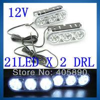 21LED X 2 DRL Car Day Driving Light Super 21 LED DRL Car Accessories 12V