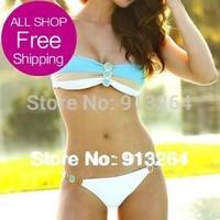 2014 Special Offer Cotton Polyester Nylon Spandex Shipping New Sexy Bikini Set Bathing Suits Women Swimsuits Swim Suit Swimwear