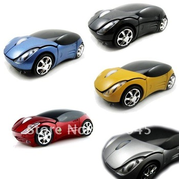USB Wireless Optical Mouse 2.4GHz Car Mice for Laptop PC MAC free shipping