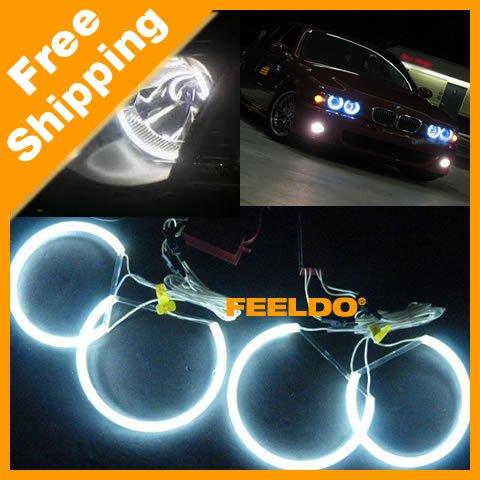 4x131.5mm White Car CCFL LED Angel Eyes headlights for BMW E46,E36,E39,E318A04 #3128(China (Mainland))