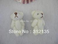 Free Shipping Mini Plush Standing/Sit Joint Teddy Bear Stuffed Toy Key/Bag Bag H-3cm 100pcs/LOT