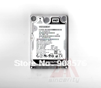 "Free shipping NEW 2.5""  WD 250GB SATA 7200PRM 16M WD2500BEKT Hard Drive for laptop notebook"